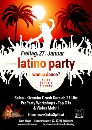 LATINO PARTY WANNA DANCE? All Areas open